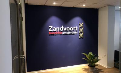 Acryloxletters Zandvoort beachfor Amsterdam