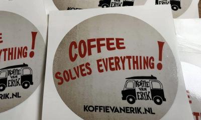 Stickers Koffie van Erik