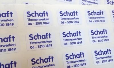 Stickers Schaft Timmerwerken