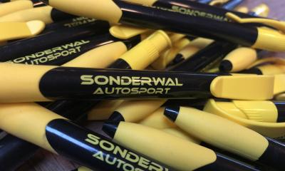 Pennen voor Sonderwal Autosport