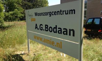 Pandbelettering Woonzorgcentrum A.G. Bodaan