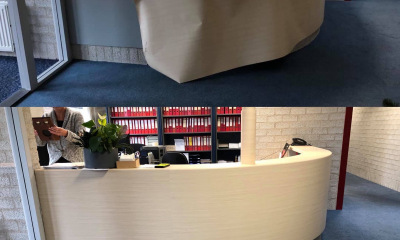 Counter wrap houtprint