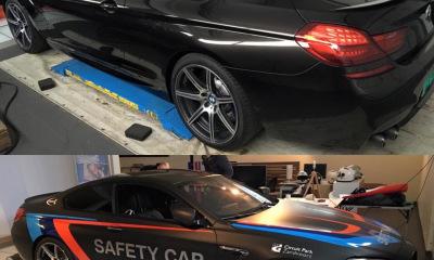 Wrap satefy car BMW