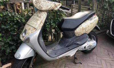 Wrap van onze eigen scooter